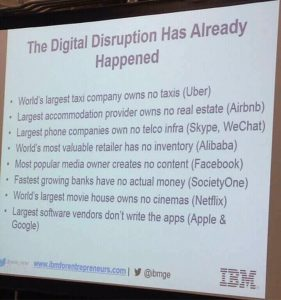 Have you heard about the digital disruptive factor