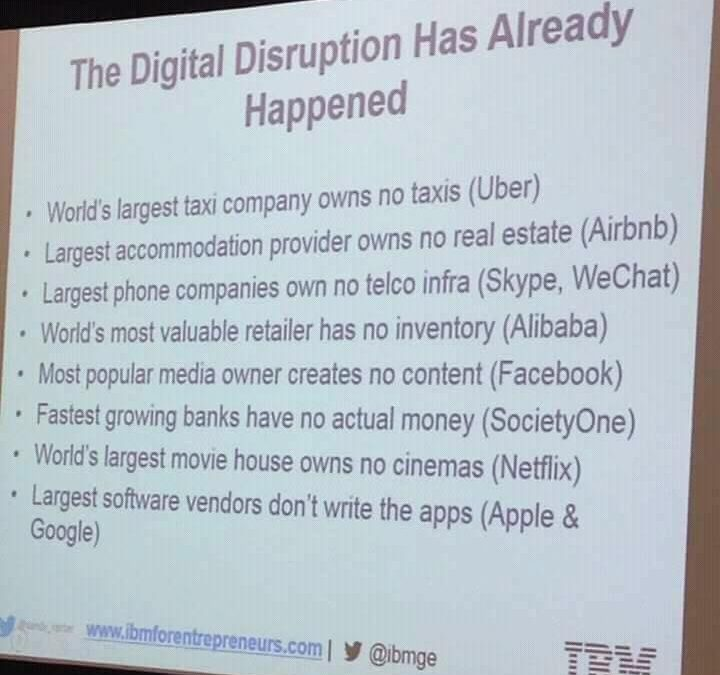 Have you heard about the digital disruptive factor?