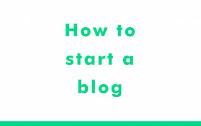 Start a blog in 10 minutes